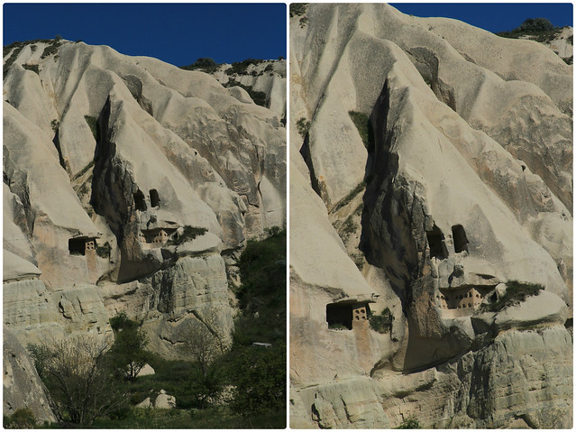 Faces in the rocks, Cappadocia