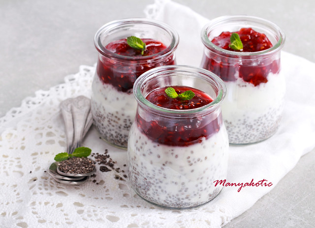 Healthy breakfast - chia seed yogurt