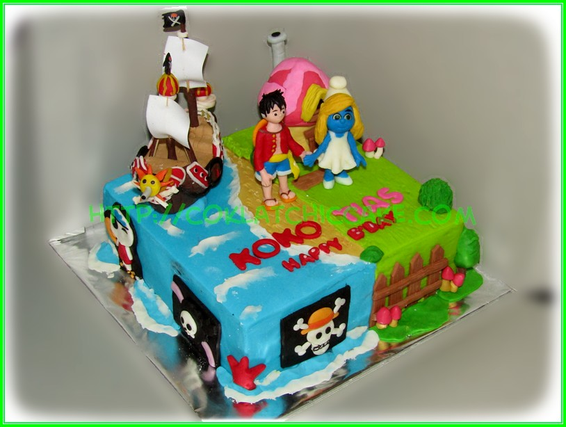 Cake One piece Smurfin