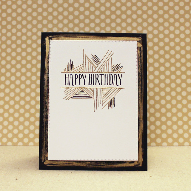 Gold & Black Birthday Card