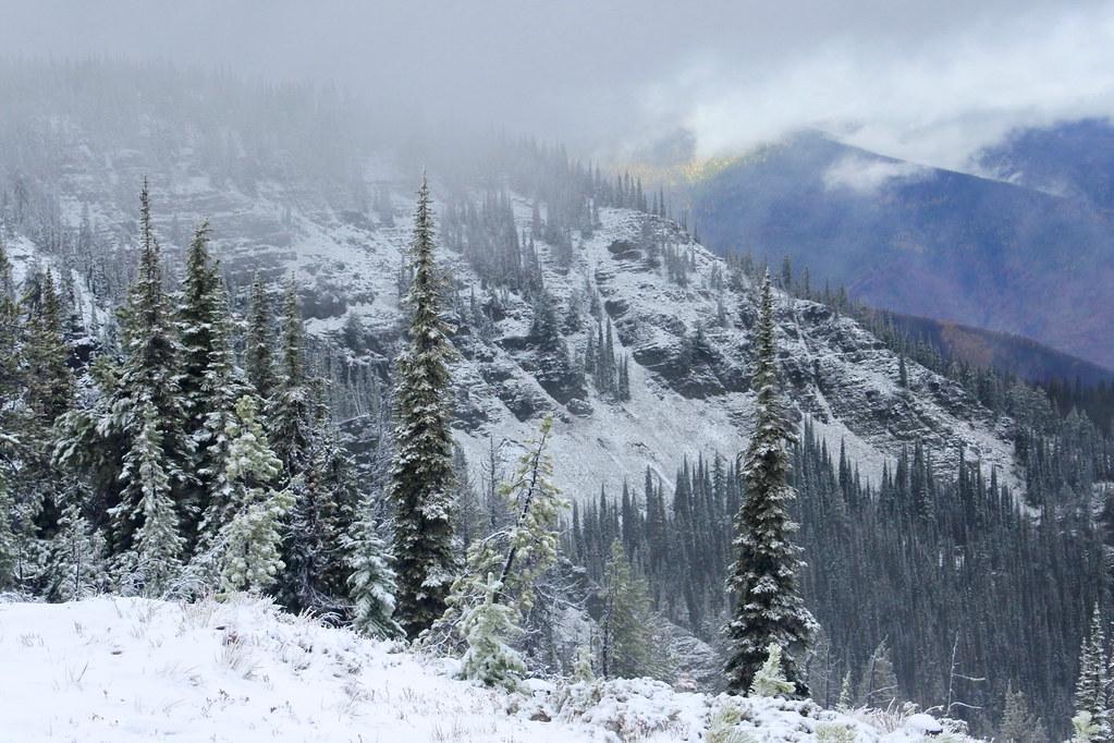 Snow storm on Big Hole Peak