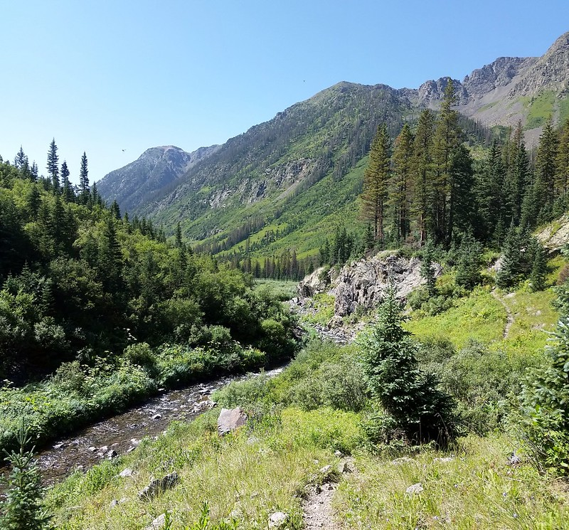 Peaks 12415 and 13003 above Lake Creek