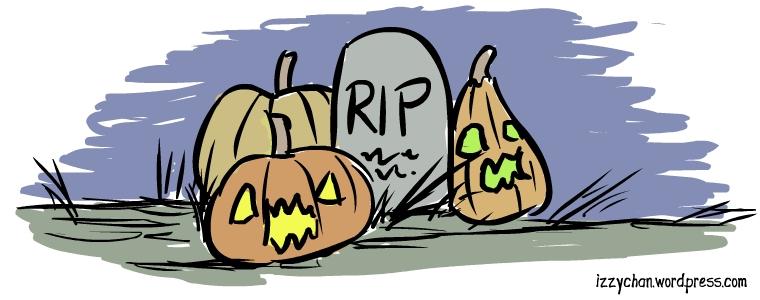 pumpkins graveyard halloween