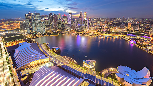 Evening at Singapore Marina Bay