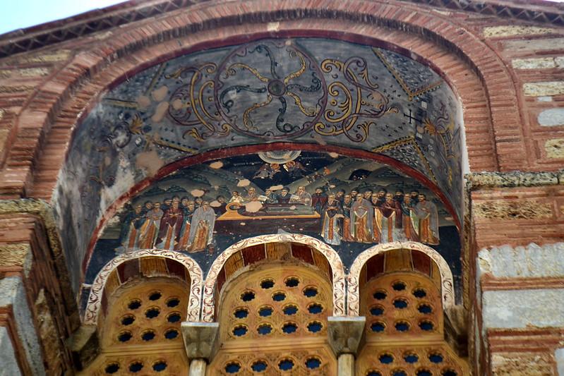 Fresco de la dormición de la Virgen