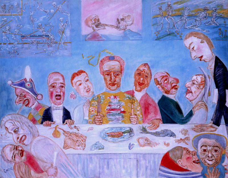 James Ensor - Comical Repast (Banquet of the Starved) 1917-18