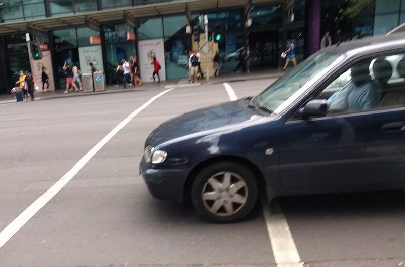 Spencer Street - vehicle in violation of Rule 218