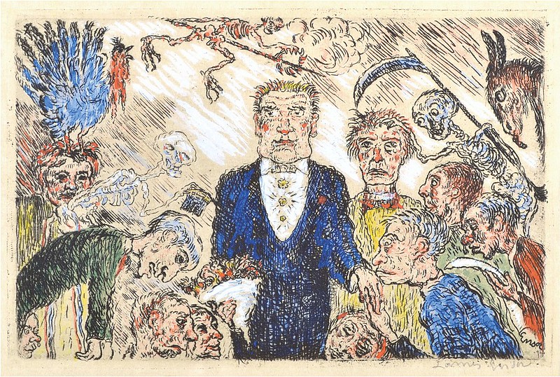 James Ensor - Pride (L'Orgeuil) from The Deadly Sins (Les Péchés capitaux) colored, 1904