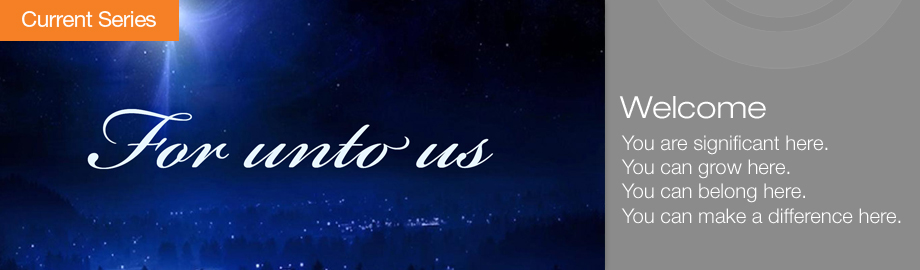 For Unto Us Homepage