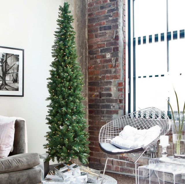 Slim Christmas Tree Holiday Decorating in Small Apartments