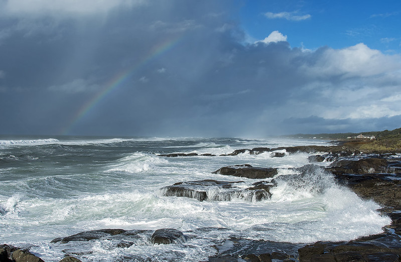 Rainbow near Yachats