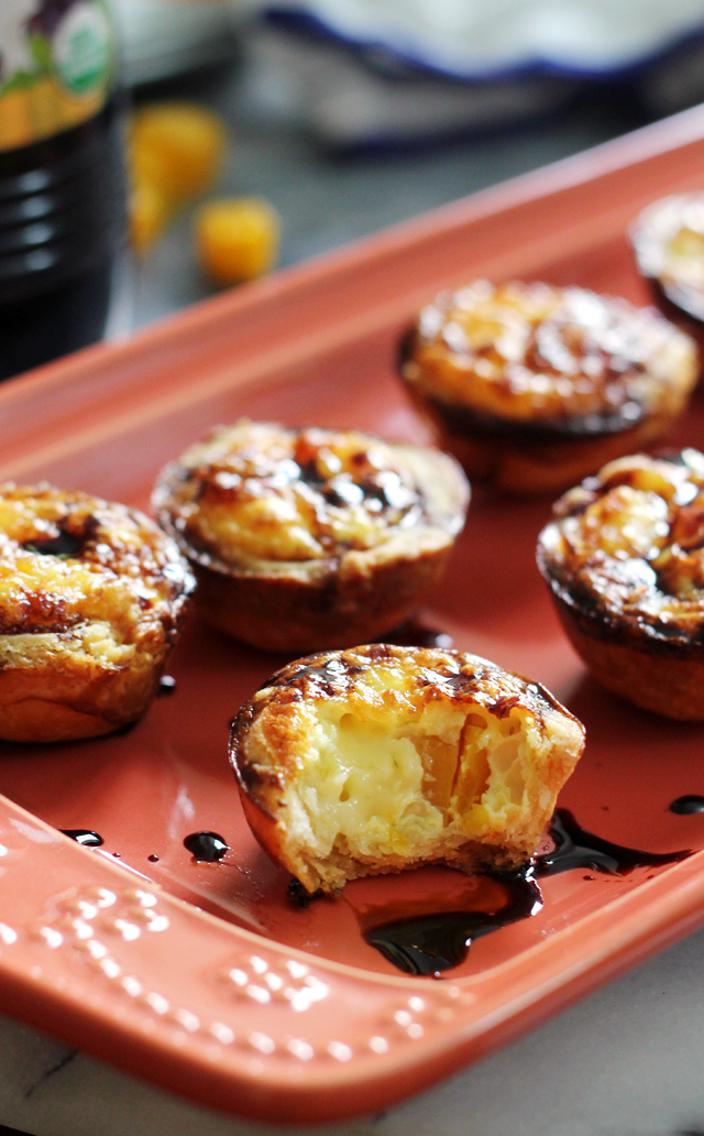 Butternut and Brie Mini Quiches with Balsamic Syrup