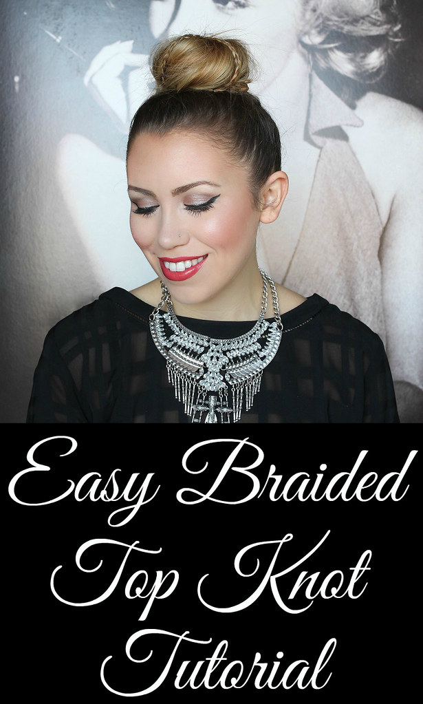 Easy Braided Top Knot Hair Tutorial with Aussie