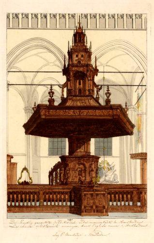 Chaire de la Nieuwe Kerk d'Amsterdam.