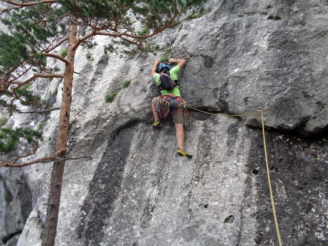 Rax Wachthüttelturm – Via Helma 200 m (7-)