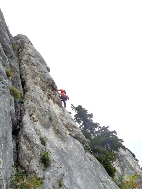 Hohe Wand – Überholspuren 180m (7+) Stenifelder Rose 80m (6) kimászással