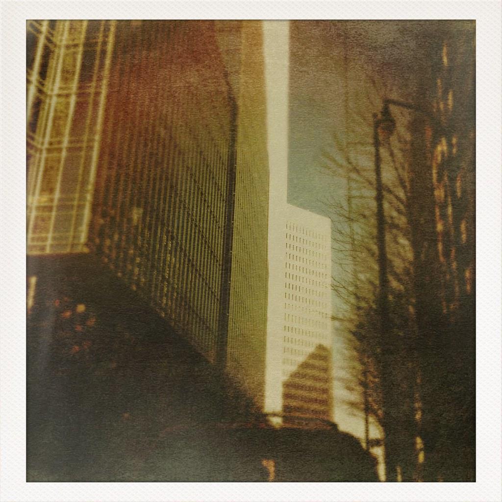 Atlanta Street Scene Viewed Through iPhone Photo App