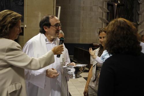 Javier Aguirregabiria Aguirre en el bautizo de su primer sobrino-nieto Julen