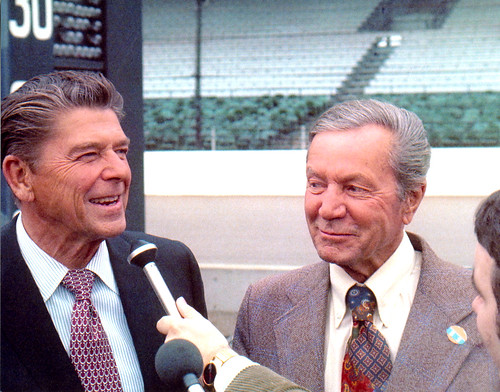 Hulman and Reagan in '76 | by indianapolismotorspeedway.com