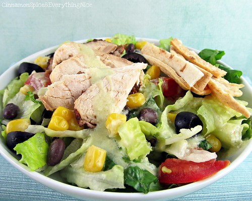 Southwest Chicken Salad with Avocado Lime Dressing | by CinnamonKitchn