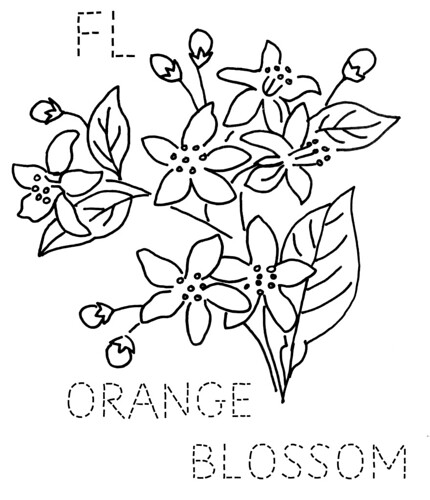 garden state parkway sign coloring pages | Florida Orange Blossom | Flickr - Photo Sharing!