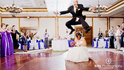 First Dance:  Jumping Over the Bride | by Brita Photography