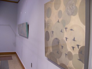 View of Delainey Barclay's exhibition in the Mezzanine Gallery | by Delaware Division of the Arts