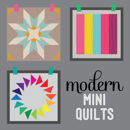 Modern Mini Quilt button | by Bijou Lovely