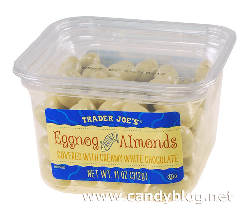 Trader Joe's Eggnog Flaovred Almonds covered with Creamy White Chocolate | by cybele-