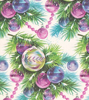Vintage Christmas Wrap 1960s Ornaments | by hmdavid