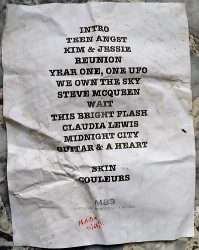 M83 Setlist - Music Hall of Williamsburg - 11/23/11 | by klaus_kinski