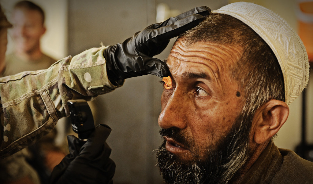 PRT medic evaluates local Afghan [Image 6 of 9