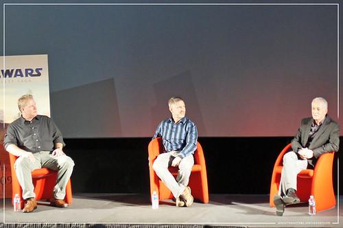 Empire BIG SCREEN : Anthony Daniels C-3PO hosts the ILM Star Wars: Industrial Light & Magic presentation with Digital Artist John Goodson and Visual Effects Supervisor Bill George