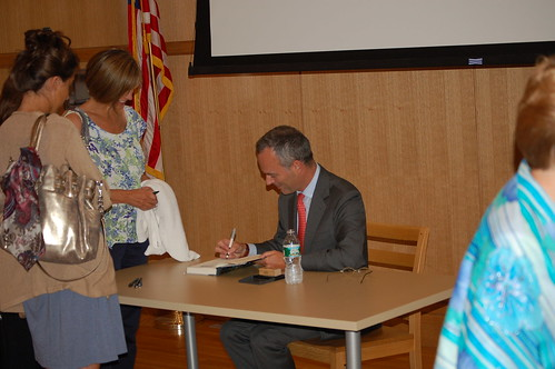 signing books | by Darien Library