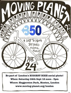 London Moving Planet Poster designed by Marina Sophia Flevotomas | by 350.org