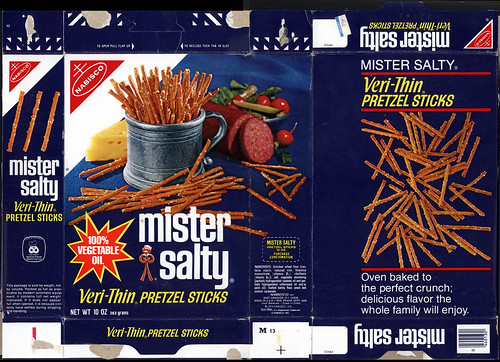 Nabisco Mister Salty Veri Thin Pretzel Sticks Snack