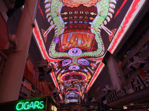 Light show, Fremont Street Experience
