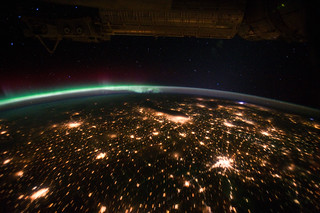 Midwestern U.S. at Night With Aurora Borealis (NASA, International Space Station, 09/29/11) | by NASA's Marshall Space Flight Center
