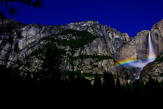 Yosemite Moonbow and stars | by johnmcgrawphotography