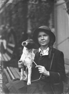 A schoolgirl exhibitor with her dog, c. 1930, by Sam Hood | by State Library of New South Wales collection