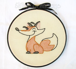 Red Fox Framed Hand Embroidery | by merigreenleaf