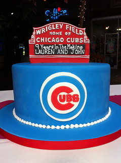 Chicago Cubs Wrigley Field Groom's Cake | by sweetfacecakes