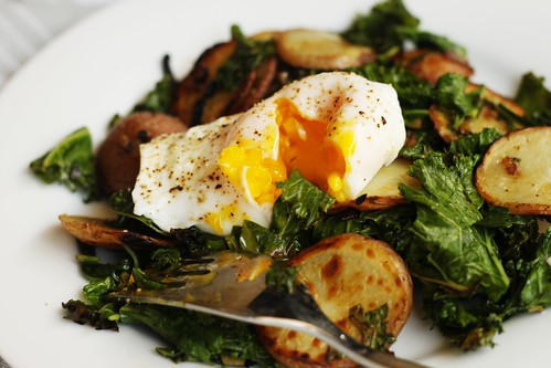 kale, potatoes, and eggs | by Stacy Spensley