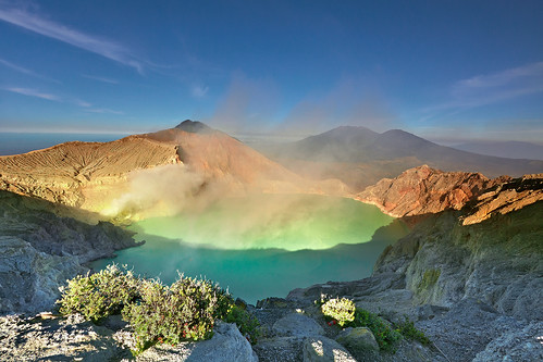 The world's largest acidic volcanic crater lake, Ijen Crater. | by tropicaLiving - Jessy Eykendorp