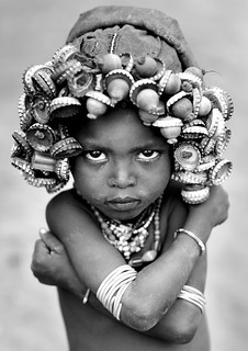 Dassanetch girl with caps wig - Omo Ethiopia | by Eric Lafforgue