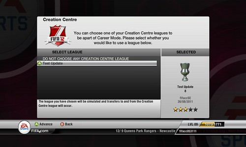 FIFA 12 Creation Centre: Use Created Teams In Career Mode | by EA SPORTS FIFA