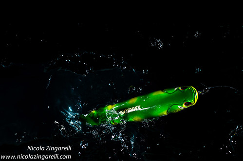 Amazon lure by Evergreen. Studio action shot with two speedlights | by Nicola Zingarelli