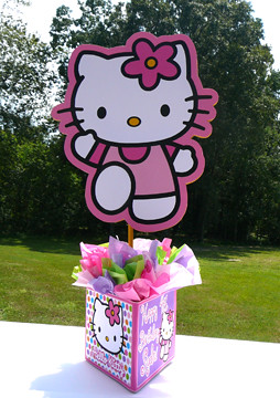 Hello Kitty Personalized Centerpiece White Polka Dots Purp Flickr
