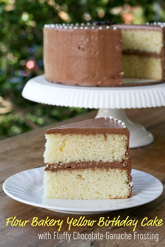 Flour Bakery - Yellow Cake with Fluffy Chocolate Ganache Frosting | by Food Librarian
