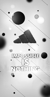 impossible is nothing [b&w vrsn] | by f-artist.